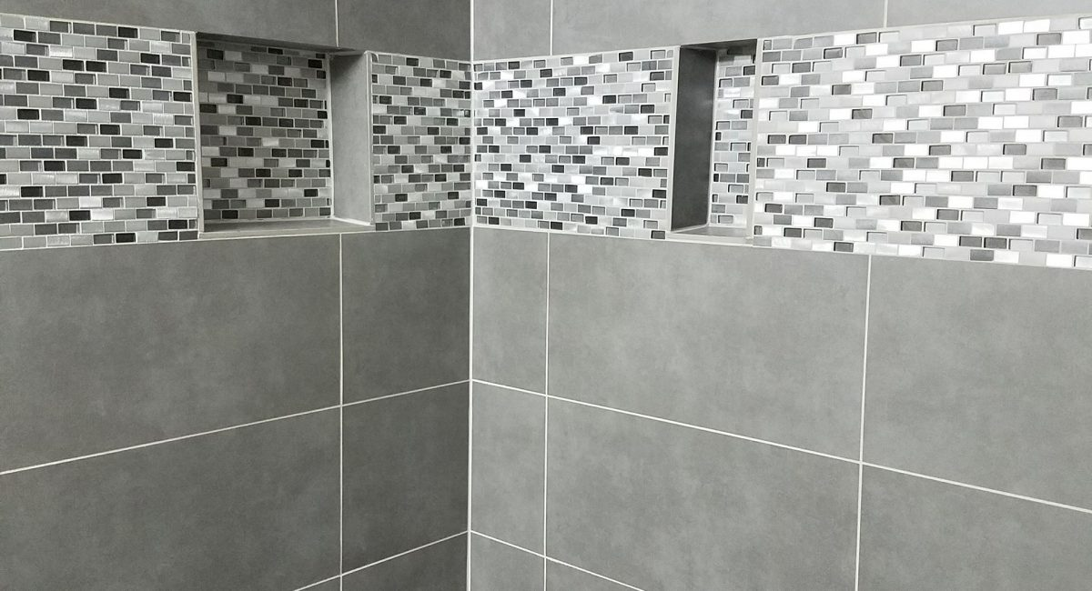 tile installation bath remodel