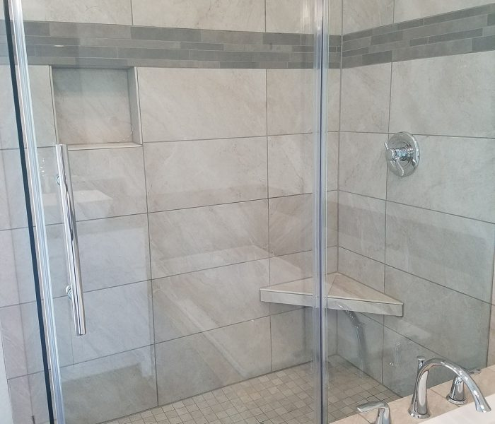 tile in master bath remodel