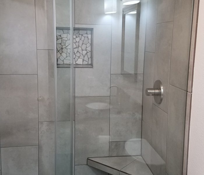 full bathroom shower tile installation
