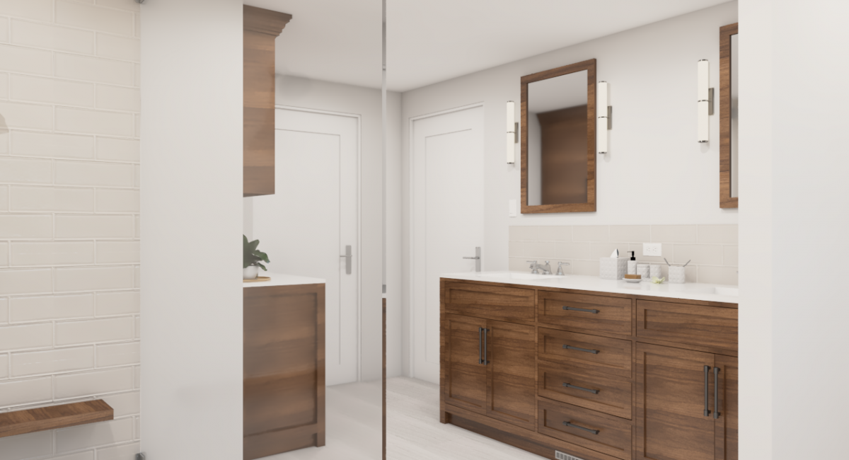 master bathroom remodel render